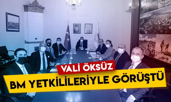 Kars Valisi Türker Öksüz, BM Gıda ve Tarım Örgütü yetkilileriyle görüştü