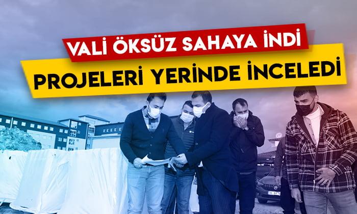 Kars Valisi Türker Öksüz, yapımı devam eden projeleri yerinde inceledi