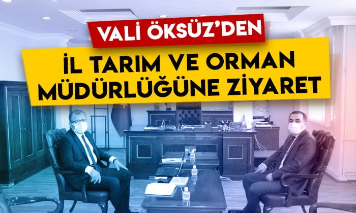 Kars Valisi Türker Öksüz'den İl Tarım ve Orman Müdürlüğüne ziyaret