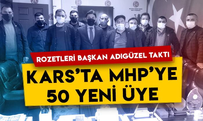 MHP'ye Kars'ta 50 yeni üye: Rozetleri Başkan Tolga Adıgüzel taktı