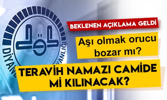 Diyanet İşleri Başkanı Ali Erbaş açıkladı: Teravih namazı camide mi kılınacak?