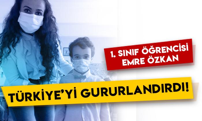 1. sınıf öğrencisi Emre Özkan Türkiye'yi gururlandırdı!
