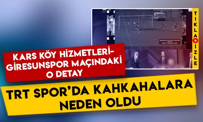Kars Köy Hizmetleri-Giresunspor maçındaki o detay, TRT Spor'da kahkahalara neden oldu!