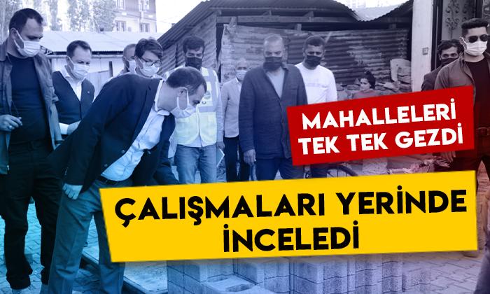 Kars Valisi Türker Öksüz, mahallelerdeki çalışmaları yerinde inceledi