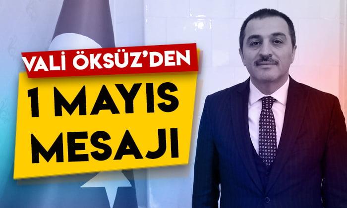 Kars Valisi Türker Öksüz'den 1 Mayıs mesajı