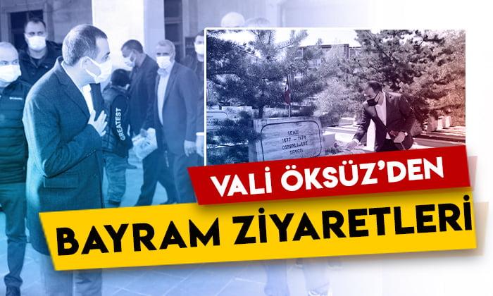 Kars Valisi Türker Öksüz'den bayram ziyaretleri