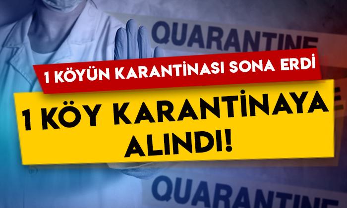 Kars'ta 1 köyün karantinası sona erdi, 1 köy karantinaya alındı!