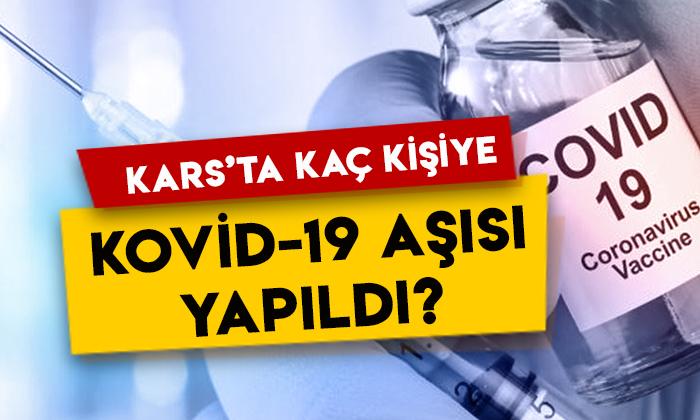 Kars'ta kaç kişiye Kovid-19 aşısı yapıldı?