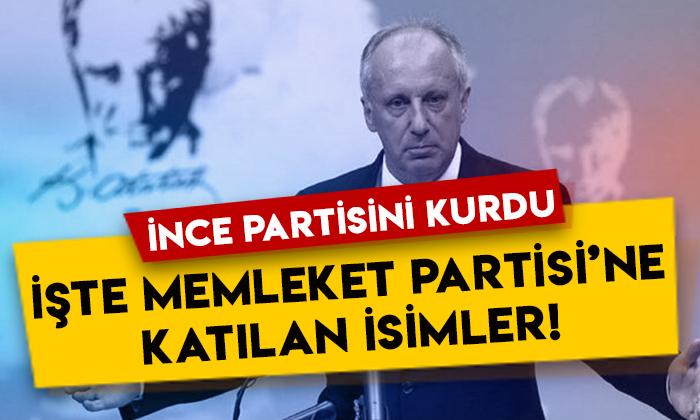 Muharrem İnce partisini kurdu: İşte Memleket Partisi'ndeki isimler!