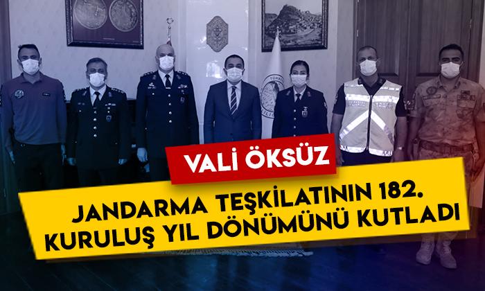 Kars Valisi Türker Öksüz Jandarma Teşkilatının 182. kuruluş yıl dönümünü kutladı