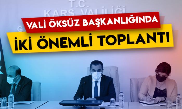 Kars Valisi Türker Öksüz başkanlığında iki önemli toplantı