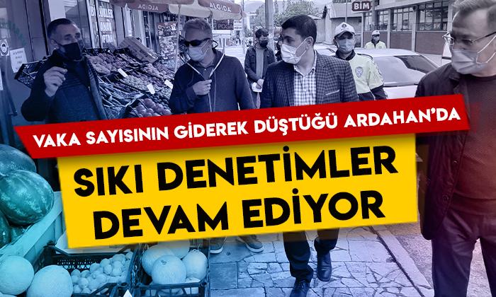 Vaka sayısının giderek düştüğü Ardahan'da sıkı denetimler devam ediyor