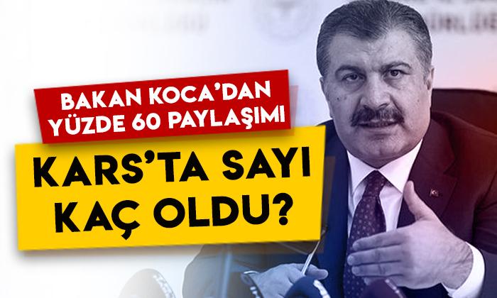 Sağlık Bakanı Fahrettin Koca'dan yüzde 60 paylaşımı: Kars'ta sayı kaç oldu?
