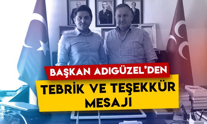 MHP Kars İl Başkanı Tolga Adıgüzel'den tebrik ve teşekkür mesajı
