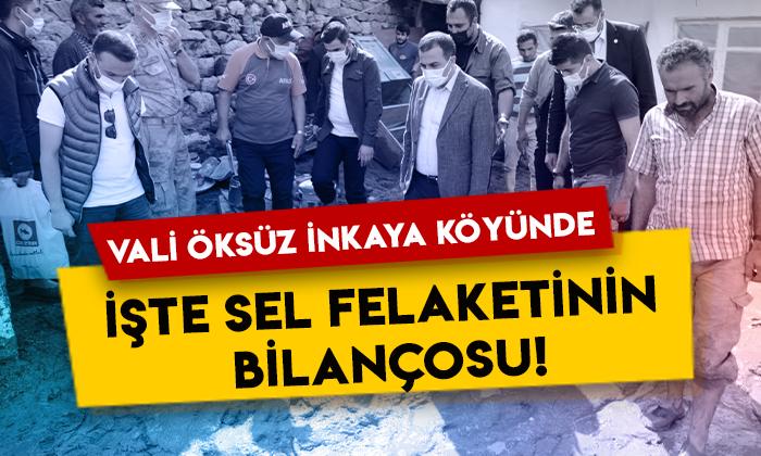 Kars Valisi Türker Öksüz, İnkaya köyünde: İşte sel felaketinin bilançosu!