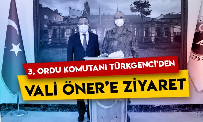 3. Ordu Komutanı Korgeneral Yavuz Türkgenci'den, Ardahan Valisi Hüseyin Öner'e ziyaret