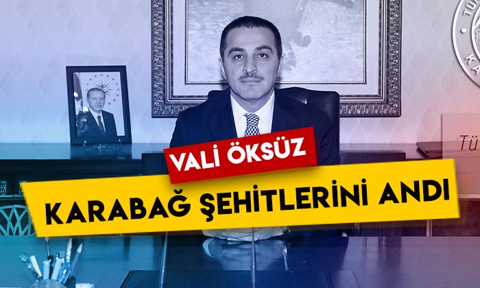 Kars Valisi Türker Öksüz Karabağ Savaşı şehitlerini andı