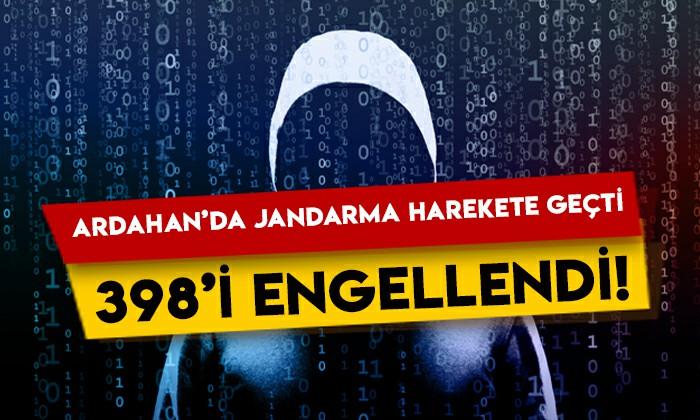 Ardahan'da jandarma harekete geçti: 398'i engellendi!