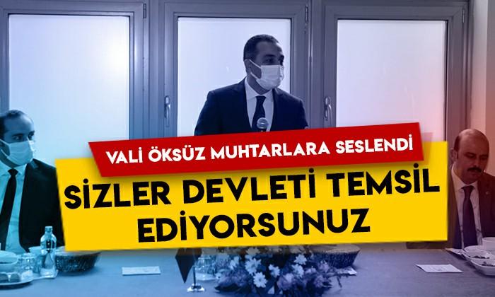 Kars Valisi Türker Öksüz muhtarlara seslendi: Sizler devleti temsil ediyorsunuz