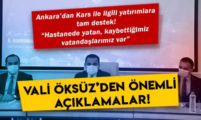 Kars Valisi Türker Öksüz'den İl Koordinasyon Kurulu Toplantısında önemli açıklamalar!